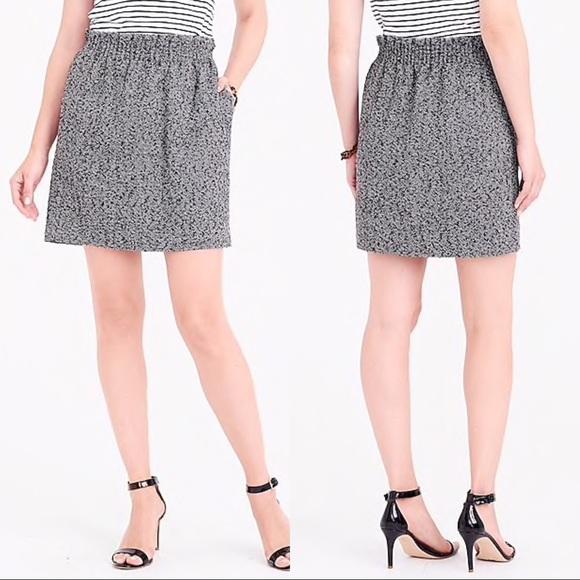 d45e1cc7e3 J. Crew Factory Dresses & Skirts - J. Crew Black Herringbone Sidewalk Mini  Skirt